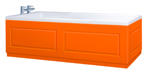 Shaker Style Orange 2 Piece adjustable Bath Panels